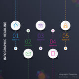 Progettazione del modello di Infographic Immagini Stock Libere da Diritti