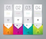 Progettazione del modello di Infographics. Fotografie Stock