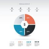 Progettazione del modello di infographics del diagramma a torta Fotografia Stock Libera da Diritti