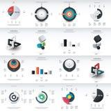 Progettazione del modello di infographics del grafico Fotografia Stock