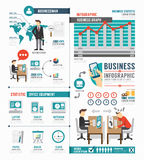 Progettazione del modello di lavoro del mondo degli affari di Infographic vettore di concetto Fotografia Stock Libera da Diritti
