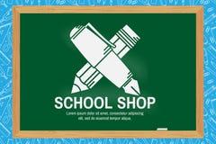 Progettazione del negozio della scuola Fotografie Stock