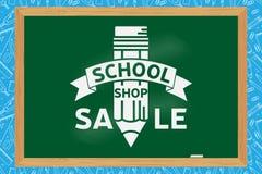 Progettazione del negozio della scuola Fotografia Stock Libera da Diritti