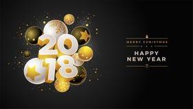 Progettazione del nuovo anno 2018 Immagini Stock Libere da Diritti