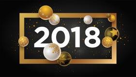 Progettazione del nuovo anno 2018 Fotografia Stock