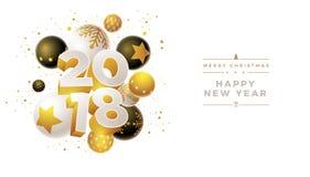 Progettazione del nuovo anno 2018 Fotografia Stock Libera da Diritti