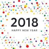Progettazione del nuovo anno con fondo variopinto Fotografia Stock
