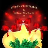 Progettazione del nuovo anno e di Natale Immagine Stock