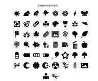 Progettazione del pacchetto dell'icona di serie della natura illustrazione di stock