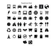 Progettazione del pacchetto dell'icona di serie di viaggio royalty illustrazione gratis