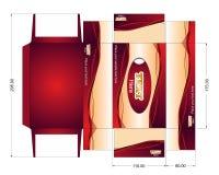 Progettazione del pacchetto per i tovaglioli Modello bagnato della scatola delle strofinate Fotografia Stock Libera da Diritti