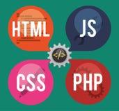 Progettazione del sito Web Immagine Stock