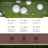 Progettazione del sito Web con il modello delle sfere Fotografie Stock