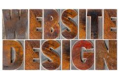 Progettazione del sito Web nel tipo di legno fotografia stock