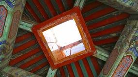 Progettazione del soffitto del padiglione fuori di Taihedian Immagini Stock