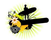 Progettazione del surfista Fotografia Stock Libera da Diritti