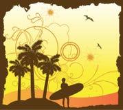 Progettazione del surfista Fotografie Stock