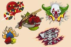 Progettazione del tatuaggio royalty illustrazione gratis