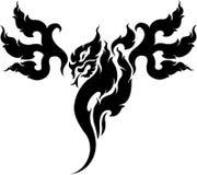 Progettazione del tatuaggio del drago Fotografia Stock Libera da Diritti