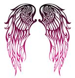 Progettazione del tatuaggio delle ali Fotografia Stock Libera da Diritti