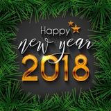 Progettazione del testo del buon anno 2018 Immagine Stock