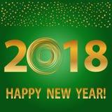Progettazione del testo del buon anno 2018 Vettore 2018 elementi di natale e del buon anno Fotografia Stock Libera da Diritti