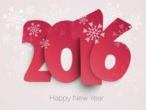 Progettazione del testo del buon anno 2016 Immagine Stock Libera da Diritti