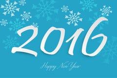 Progettazione del testo del buon anno 2016 Fotografia Stock