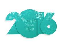 Progettazione del testo del buon anno 2016 Fotografie Stock