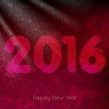 Progettazione del testo del buon anno 2016 Immagine Stock