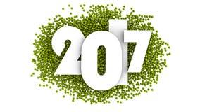 Progettazione del testo del buon anno 2017 illustrazione 3D Immagini Stock
