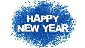 Progettazione del testo del buon anno Priorità bassa variopinta illustrazione 3D Fotografia Stock Libera da Diritti
