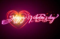 Progettazione del testo per Valentine Card Fotografie Stock