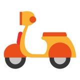 Progettazione del trasporto Icona del motociclo Illust piano ed isolato Fotografia Stock