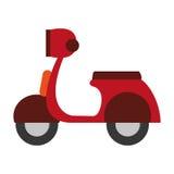 Progettazione del trasporto Icona del motociclo Illust piano ed isolato Immagine Stock Libera da Diritti