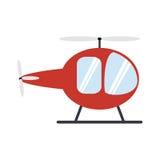 Progettazione del trasporto Icona dell'elicottero Illust piano ed isolato Fotografia Stock Libera da Diritti