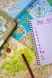 Progettazione del viaggio attraverso Europa Immagini Stock
