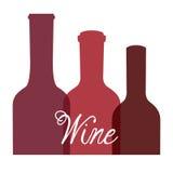 Progettazione del vino Fotografie Stock
