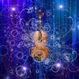 Progettazione del violino Fotografie Stock