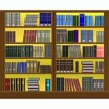 Progettazione del volume dello scaffale per libri Fotografia Stock
