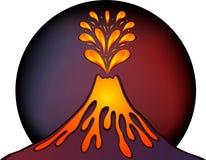 Progettazione del vulcano attivo illustrazione vettoriale