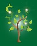 Progettazione dell'albero dei soldi Immagine Stock