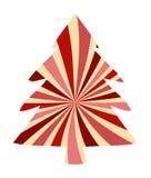 Progettazione dell'albero di Natale con la decorazione bianca e di rosa del bastoncino di zucchero di turbinio, elemento festivo  royalty illustrazione gratis