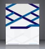 Progettazione dell'aletta di filatoio dell'opuscolo di affari di vettore Fotografie Stock Libere da Diritti