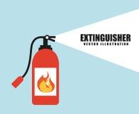 Progettazione dell'allarme antincendio illustrazione di stock