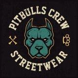 Progettazione dell'emblema della mascotte di Pitbull royalty illustrazione gratis