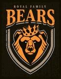 Progettazione dell'emblema della mascotte dell'orso royalty illustrazione gratis