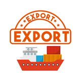 Progettazione dell'esportazione e dell'importazione illustrazione vettoriale