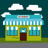 progettazione dell'esterno del ristorante illustrazione di stock