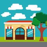 progettazione dell'esterno del ristorante illustrazione vettoriale